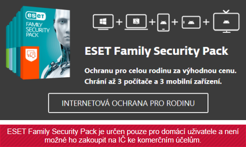 Dárek USB 8GB k antiviru ESET Family Security Pack